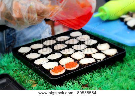 Making Japanese Sushi Traditional - Japanese Food