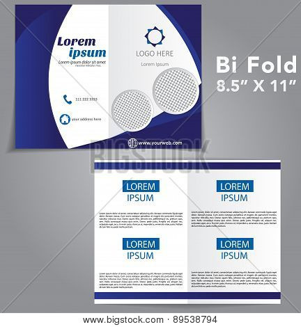 Bi Fold Brochure Vector Design