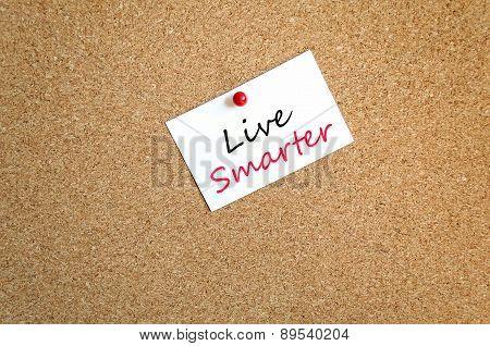 Sticky Note Live Smarter Concept