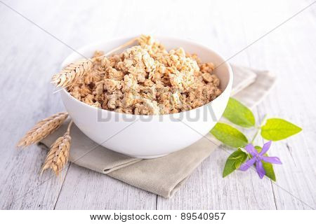 muesli, bowl of cereal