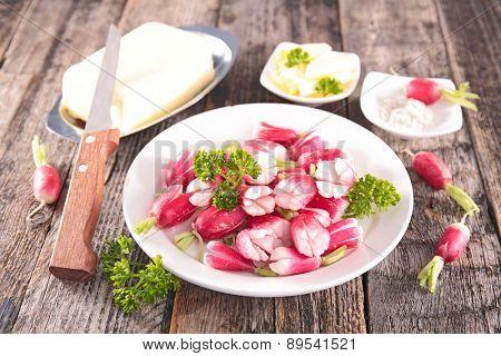 radish and parsley