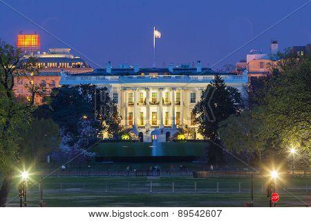 The White House At Night - Washington Dc