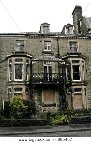 Abandoned Victorian House In Disrepair