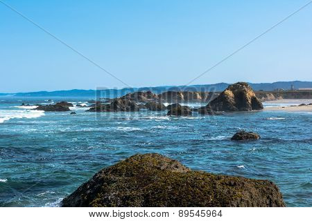 The coast along Fort Bragg, California
