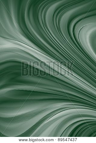 Monochrome green background with divergent wavy rays