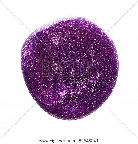 Blot Of Purple Nail Polish