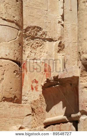 Ancient Egypt painting with face stolen