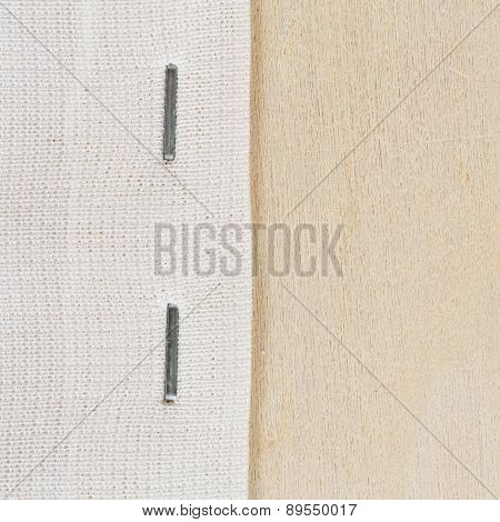 Staple Cloth On Wooden Frame