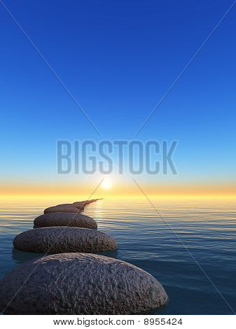 Rock And Sunrise