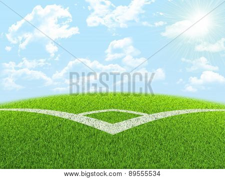 Green nature field with indexing