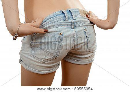 Denim Shorts Isolated