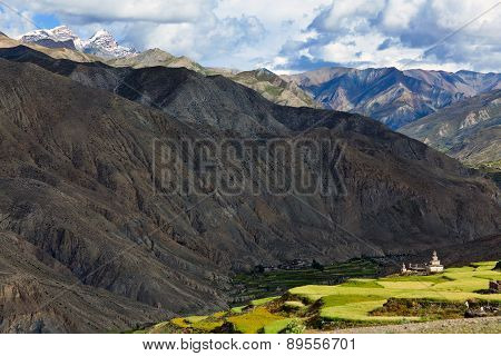 Saldang Village in Dolpo, Nepal