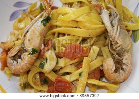 Fettuccine At The Scampi