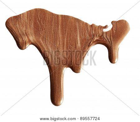 Blot Of Brown Nail Polish