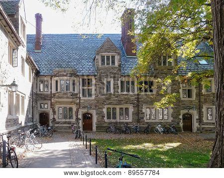 Bicycles In Campus At Princeton University