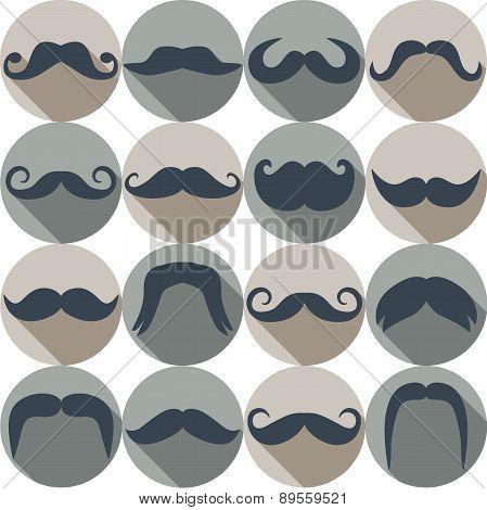 Moustaches set.