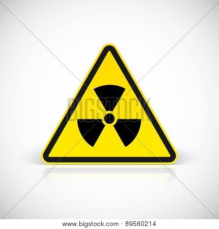 Radiation hazard symbol vector.