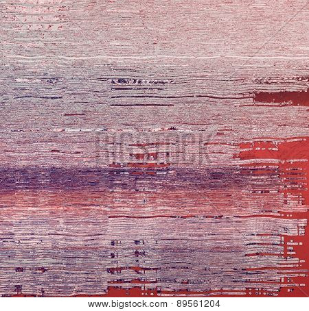 Old abstract grunge background, aged retro texture. With different color patterns: gray; purple (violet); pink; red (orange)