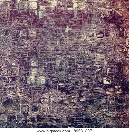 Old ancient texture, may be used as abstract grunge background. With different color patterns: brown; gray; purple (violet); black