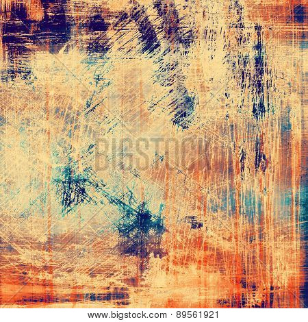 Old style detailed texture - retro background with space for text or image. With different color patterns: yellow (beige); brown; cyan; blue