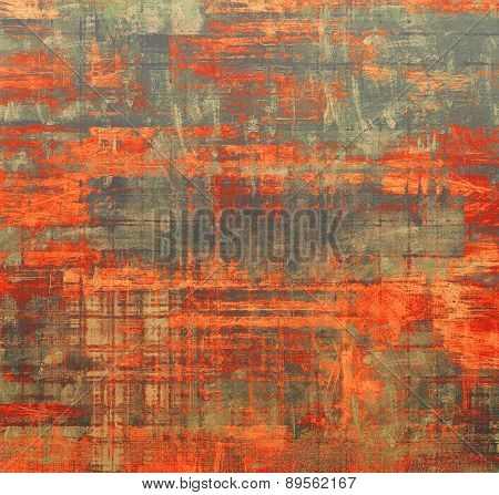 Old designed texture as abstract grunge background. With different color patterns: brown; gray; red (orange)