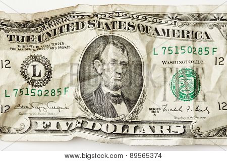 Five Dollars. Lincoln