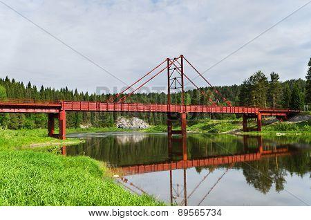 The Automobile Bridge Through The River