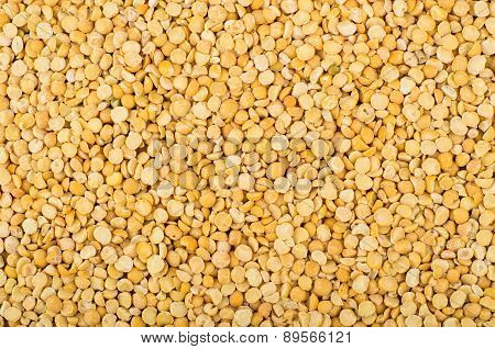 Horizontal Background Of Shelled Dried Peas