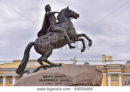 Monument Of Russian Emperor Peter The First, Saint Petersburg , Russia