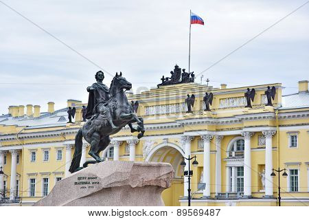 Monument Of Russian Emperor Peter The Great, Saint Petersburg , Russia