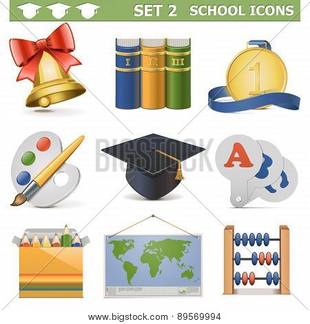Vector School Icons Set 2