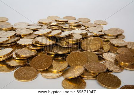 coins of Ukrainian hryvnias