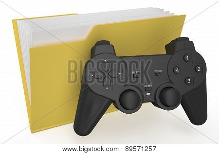 Yellow Folder With Gamepad
