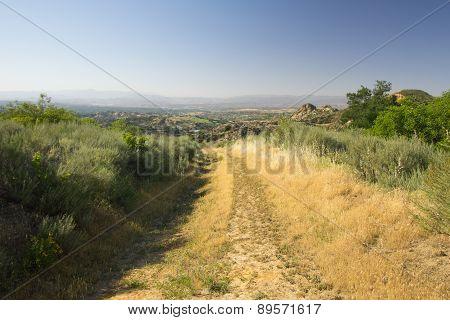 Hiking Trail In California Hills