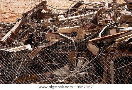 Scrap Metal Pile After Demolition