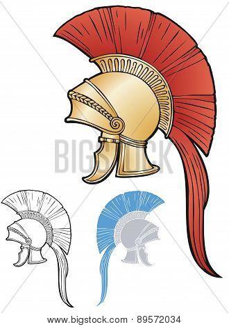 Greco-Roman style helmet