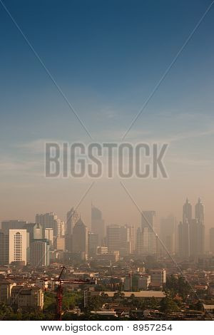 smog dome over a big city