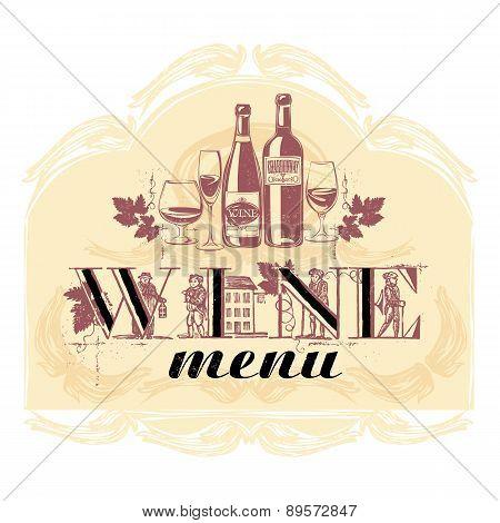 Vector Illustration For A Wine Menu.
