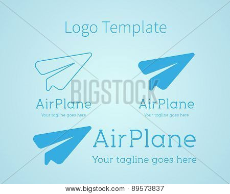 Airplane - vector logo concept. Aircraft illustration. Logo template. Minimal classic style. Airplan