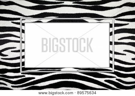 black-and-white striped frame