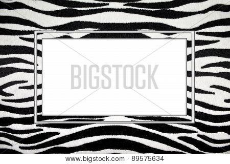 black-and-white striped frame