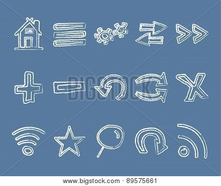 Doodle Web Elements Set