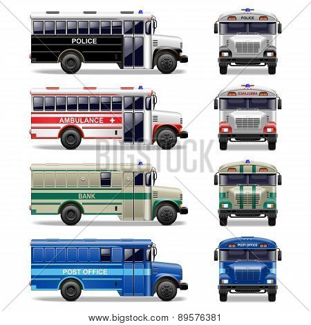 Vector special bus icons