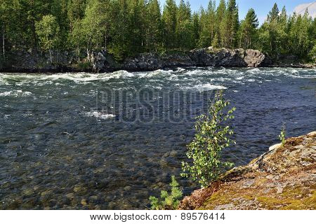 Umba River. Kola Peninsula, Russia