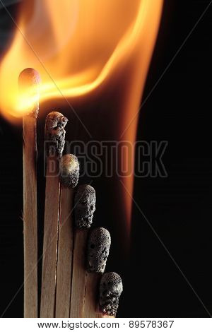 Burning Matches