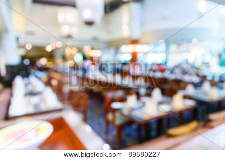 Abstract Blurred Restaurant
