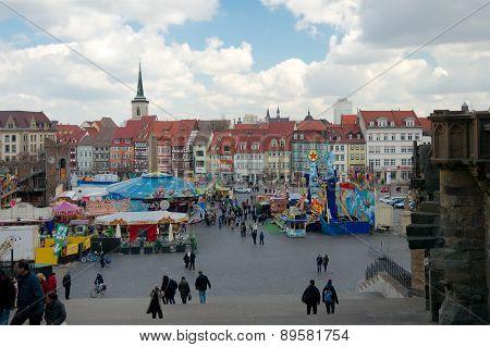 Domplatz, Erfurt, Thuringia, Germany
