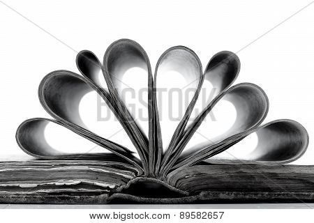 Old Book In Black And White