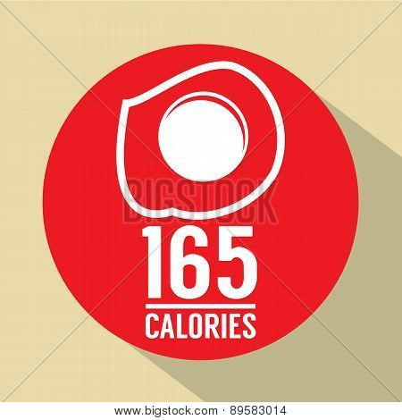 Fried Egg 165 Calories Symbol.