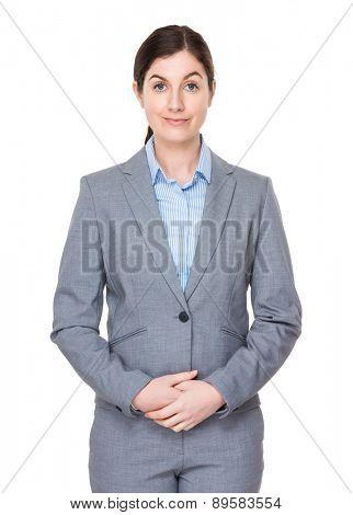 Brunette businesswoman